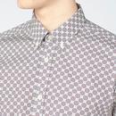 BEN SHERMAN Retro Mod Mini Foulard Shirt - Ivory