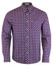 BEN SHERMAN Mod 60s House Check Shirt in Red