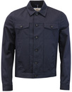 ben sherman trucker jacket navy mod