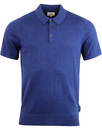 ben sherman cotton knitted polo indigo
