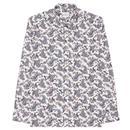 BEN SHERMAN 60's Mod Large Paisley Shirt - Ivory