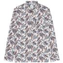 Ben Sherman 60s Mod Large Paisley Print Shirt in Ivory