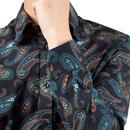 BEN SHERMAN Large Paisley Print Shirt (Midnight)