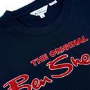 BEN SHERMAN Mens Retro Signature Logo T-shirt DN
