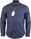 ben sherman polka dot shirt navy blazer