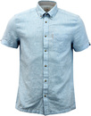 ben sherman linen short sleeve shirt sky blue