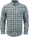 ben sherman gingham tartan check shirt chalk pink