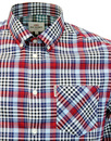 BEN SHERMAN 70s Gingham Tartan Check Shirt SKY