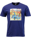BEN SHERMAN Retro Sixties Pool Party Tee BLUE