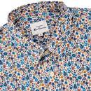 BEN SHERMAN 60s Mod Multicolour Floral Shirt IVORY