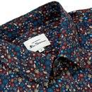 BEN SHERMAN Mod Multicolour Floral Shirt MIDNIGHT