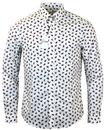 ben sherman retro 60s mod scattered paisley shirt