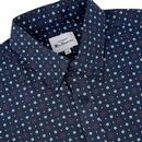 BEN SHERMAN Retro Mod Target Spot Print Shirt DB