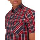 BEN SHERMAN Mod S/S BD Tartan Check Shirt (Red)
