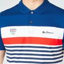 BEN SHERMAN x Team GB Retro Mod Chest Stripe Polo