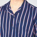 BEN SHERMAN x Team GB Resort Collar Stripe Shirt