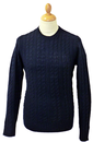 BEN SHERMAN Cable Knit 60s Mod Fisherman Jumper CN