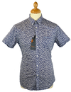 Astral Floral BEN SHERMAN Retro 60s Mod S/S Shirt