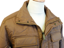 BEN SHERMAN Retro Indie Mod Waxed Military Jacket