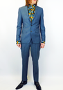 BEN SHERMAN MENS MOD 60S RETRO SUIT BLUE MIRAGE