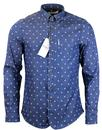 BEN SHERMAN RETRO MOD UMBRELLA PRINT SHIRT