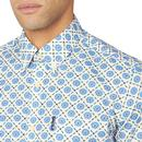 BEN SHERMAN 60s Mod Block Floral S/S Shirt (RB)