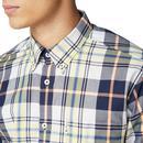 BEN SHERMAN 70s Mod Large Scale Check Shirt LEMON