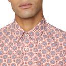BEN SHERMAN 60s Mod Ornate Mosaic Print Shirt