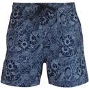 ben sherman abaka floral print swim shorts navy white