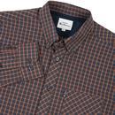BEN SHERMAN Mini Mod Check Button Down Shirt (C)