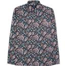ben sherman mens multicoloured paisley print long sleeve shirt dark navy