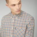 BEN SHERMAN Oxford Multi Gingham Check Shirt (G)