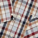 BEN SHERMAN Retro Mod S/S Madras Check Shirt (LB)