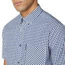 BEN SHERMAN Mod SS Signature Gingham Shirt (DB)