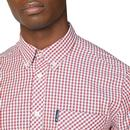 BEN SHERMAN Mod LS Signature Gingham Shirt (Red)