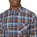 BEN SHERMAN Retro Mod SS Textured Check Shirt (DN)