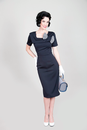 Big Bow BETTIE PAGE Retro Fifties Pencil Dress (N)