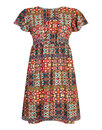 Bright & Beautiful Retro 70s Smock Dress Sally