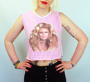 Dana BRIGITTE BARDOT Retro Gingham Portrait Top
