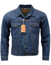 brutus gold retro mod denim trucker jacket blue