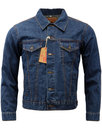 BRUTUS GOLD Retro Mod Blue Denim Trucker Jacket