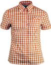 BRUTUS TRIMFIT Women's Mod Gingham Check Shirt
