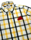 BRUTUS TRIMFIT Retro Mod Windowpane Check Shirt