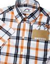 BRUTUS TRIMFIT Womens Mod Window Pane Check Shirt