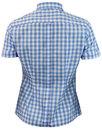 BRUTUS TRIMFIT Women's Mod Gingham Check Shirt SKY