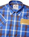 BRUTUS TRIMFIT Men's Mod Window Pane Check Shirt B