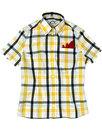 BRUTUS TRIMFIT Womens Mod Windowpane Check Shirt