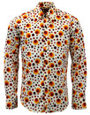 Dot CHENASKI Retro Seventies Op Art Mod Shirt