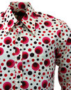 Dot CHENASKI Retro Seventies Op Art Mod Shirt R