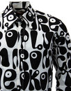 Moloko CHENASKI Retro Sixties Pop Art Mod Shirt BW